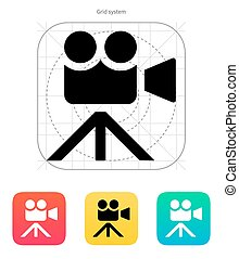 Movie camera icon. Vector illustration.