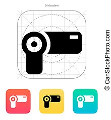 Hand-held camera icon. Vector illustration.