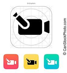 Portable camera icon. Vector illustration.