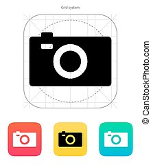 Digital camera icon. Vector illustration.