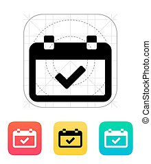 Calendar event day icon. Vector illustration.