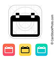 Blank calendar icon Vector illustration