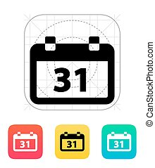 Calendar date icon. Vector illustration.