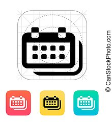 Calendars icon. Vector illustration.