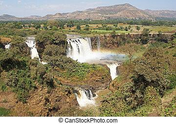 Blue Nile falls, Bahar Dar, Ethiopia - Blue Nile waterfalls,...