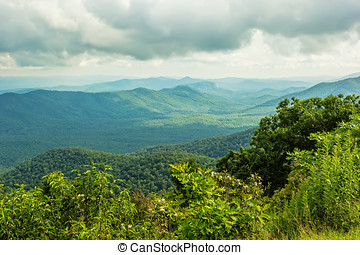North Carolina - Beautiful scenic view of the Appalachian...