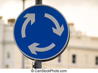 Road Sign - Roundabout - Mini Roundabout Traffic Sign