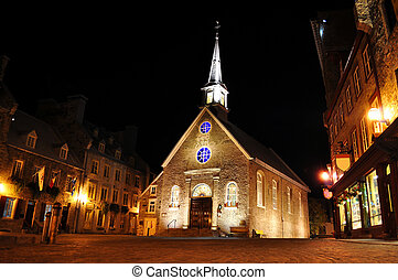 Quebec City, Canada - Old Quebec City at night