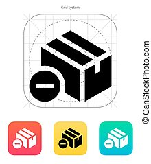 Remove box icon. Vector illustration.