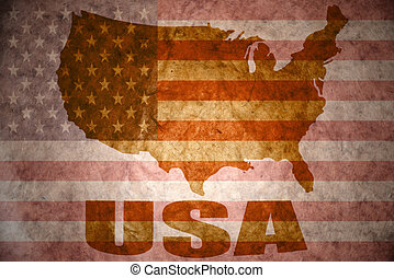 united states of america vintage map - united states of...