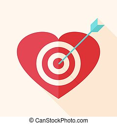 Heart target with arrow