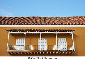 Colonial Architecture of Cartagena - Traditional Spanish...
