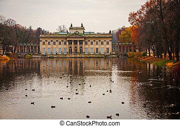 Lazienki Park in Poland, Warsaw.