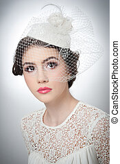 Hairstyle and makeup girl with veil - Hairstyle and make up...
