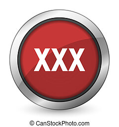 xxx red icon porn sign