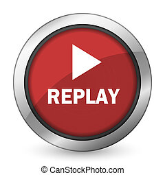 replay red icon