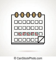 Vector icon for menstrual calendar