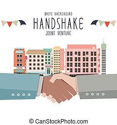 Handshake, Joint venture