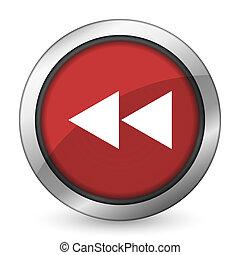 rewind red icon