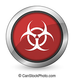 biohazard red icon virus sign