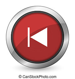 previous red icon