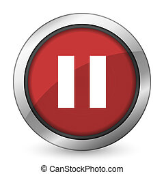 pause red icon