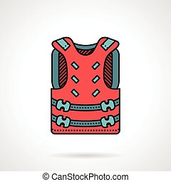 Pink paintball vest vector icon - Flat color vector icon...