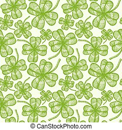 seamless clovers pattern