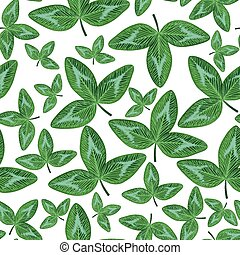 Clovers green leaves seamless pattern