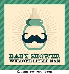 Baby Shower Greeting Card - Baby shower greeting card with...