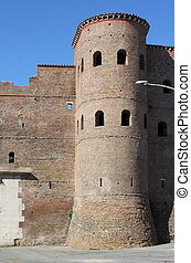 Bastion in surrounding walls of Rome, Italy