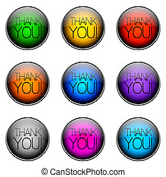 Button Color THANKYOU - Colorful buttons with different...