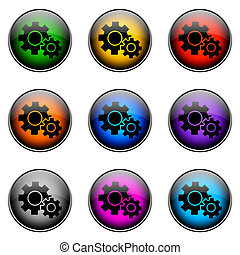 Button Color SETTINGS - Colorful buttons with different...