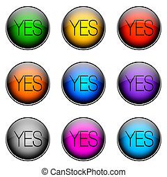 Button Color YES - Colorful buttons with different topics...