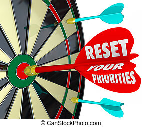 Reset Your Priorities Dart Board Changing Order Most...