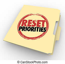 Reset Priorities Manila Folder Files Top Most Important Jobs...