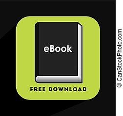 e-book concept design, vector illustration eps10 graphic
