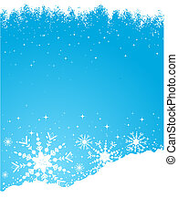 Snowy background - Grunge snowflake background