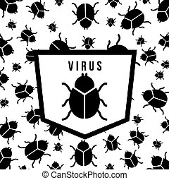 computer virus design, vector illustration eps10 graphic
