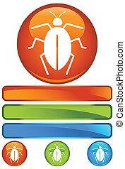 bug orange round isolated on a white background.