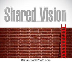 shared vision ladder concept illustration design over a...