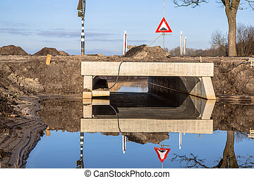 Eco Culvert under construction - Newly constructed Eco...