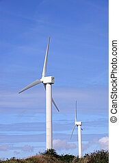 Wind farm turbine power generator masts