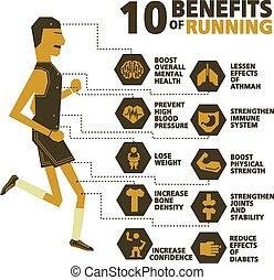 10 benefits of running vector design
