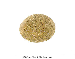one stone isolated on a white background