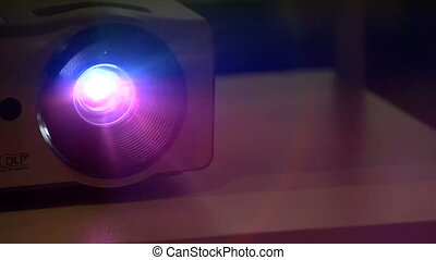 Shimmering Projector Beam - Light projector flickers in the...