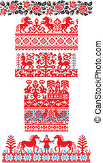 Russian ornaments - This image is a vector illustration and...