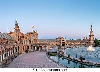 Panorama Espana Square Spain - Panorama Spanish Square...