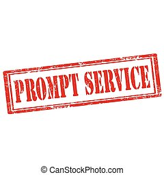 Prompt Service-stamp - Frunge rubber stamp with text Prompt...