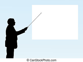 Presentation - Illustration of a man is making a...